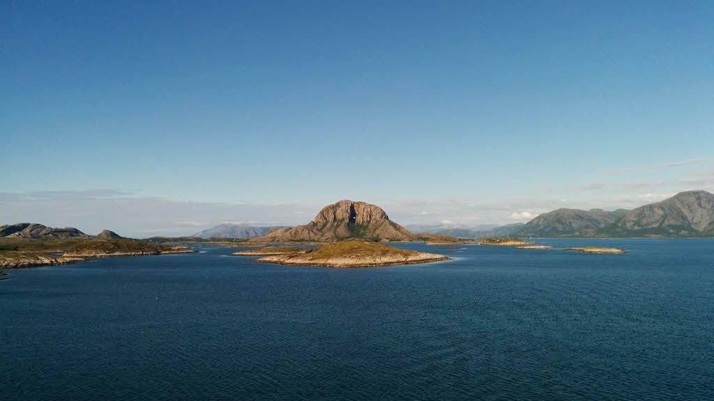 Torghatten Mountain on the Helgeland Coast by B. Dirtheuer, Hurtigruten