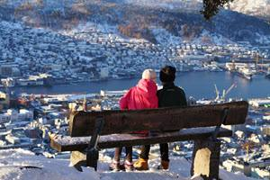 View from Mount Floien in winter by Gjertrud Coutinho, Visit Bergen