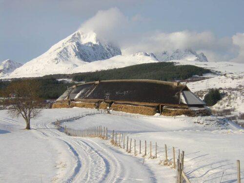 Viking Museum in winter by Lofotr Viking Museum, Hurtigruten