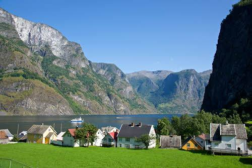 Village on the shores of Sognefjord by Oyvind Heen, Visit Norway