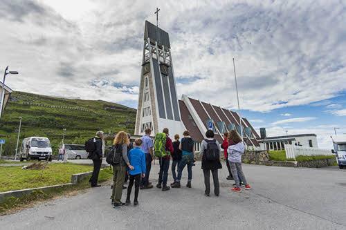 Visit of Hammerfest by Orjan Bertelsen, Hurtigruten