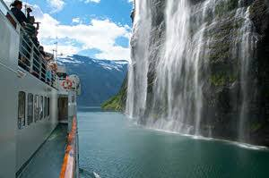 Waterfall on amazing Geirangerfjord by Oivind Heen, Visit Norway