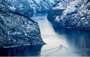 Winter on Sognefjord by Sverre Hjornevik, Flam