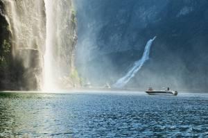 Geirangerfjord waterfalls. Photo by Fred Jonny Hammero, More og Romsdal fylke