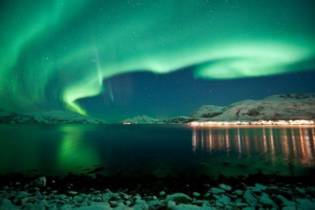 Northern Lights over Tromso. Photo by Gaute Bruvik, Nordnorsk Reiseliv