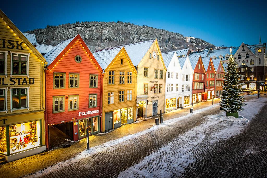 Bergen in winter, by Visit Bergen