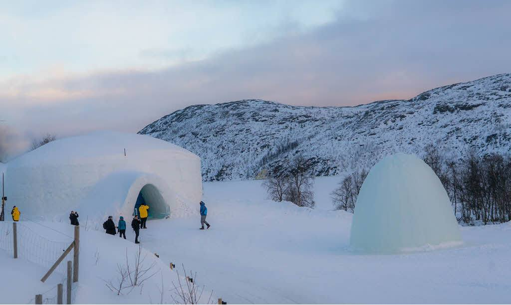 Entrance to Snow Hotel Kirkenes by Kirkenes Snow Hotel
