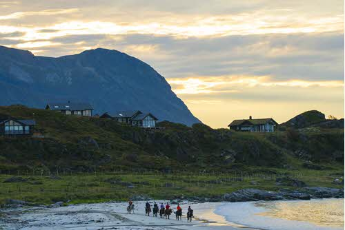Horse riding on Lofoten Islands by Pal Sonby Vindfallet, Hurtigruten