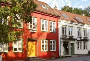 Bakklandet area, Trondheim Norway. Photo by Rita de Lange, Fjord Travel Norway
