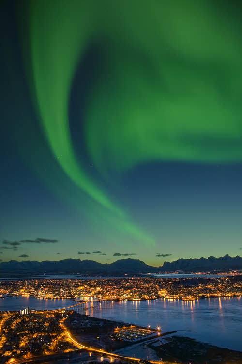 Northern Lights in Tromso by Baard Loken, Visit Norway