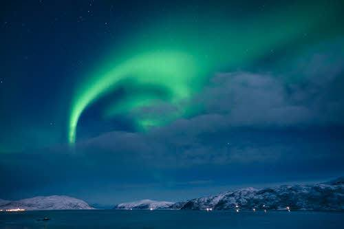 Northern Lights in Tromso by Konrad Konieczny, Nordnorsk Reiseliv