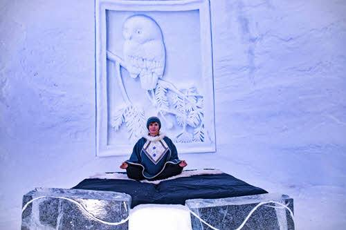 Snow room at Kirkenes Snowhotel by Kirkenes Snowhotel