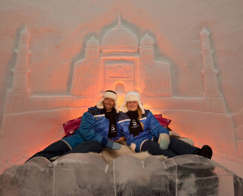 About sleeping in the Snow hotel. Photo credit Kirkenes snow hotel
