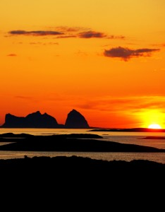 Midnight sun in Norway. Photo by ToFoto, Nordnorsk Reiseliv