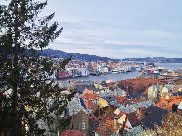 Bergen view in winter. Photo by Rita de Lange, Fjord Travel Norway