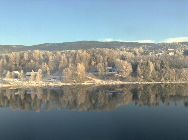 Bergen line in winter, hallingdal valley. Photo by Rita de Lange, Fjord Travel Norway