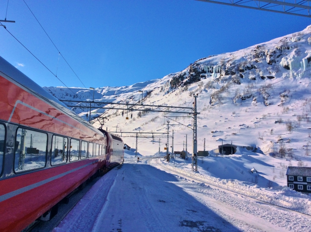 The Bergen line at Myrdal station. Photo by Rita de Lange, Fjord Travel Norway