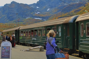 Flam Railway at Myrdal station. Photo by Rita de Lange, Fjord Travel Noway