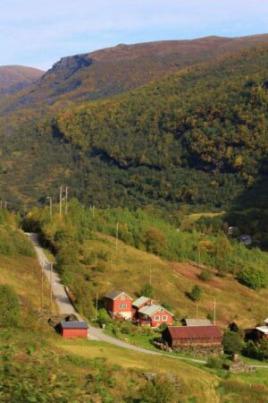 Flam Railway, View Of A Tiny Farm. Photo By Rita De Lange, Fjord Travel Norway