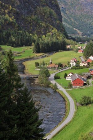 Flam Railway View - Tiny Village In The Flam Valley. Photo By Rita de Lange, Fjord Travel Norway