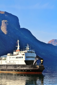 Ferry on the Sognefjord. Photo by Rita de Lange, Fjord Travel Norway