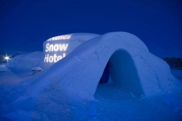 Snow hotel in Kirkenes. Photo by Klaus Peter Kappest, Hurtigruten