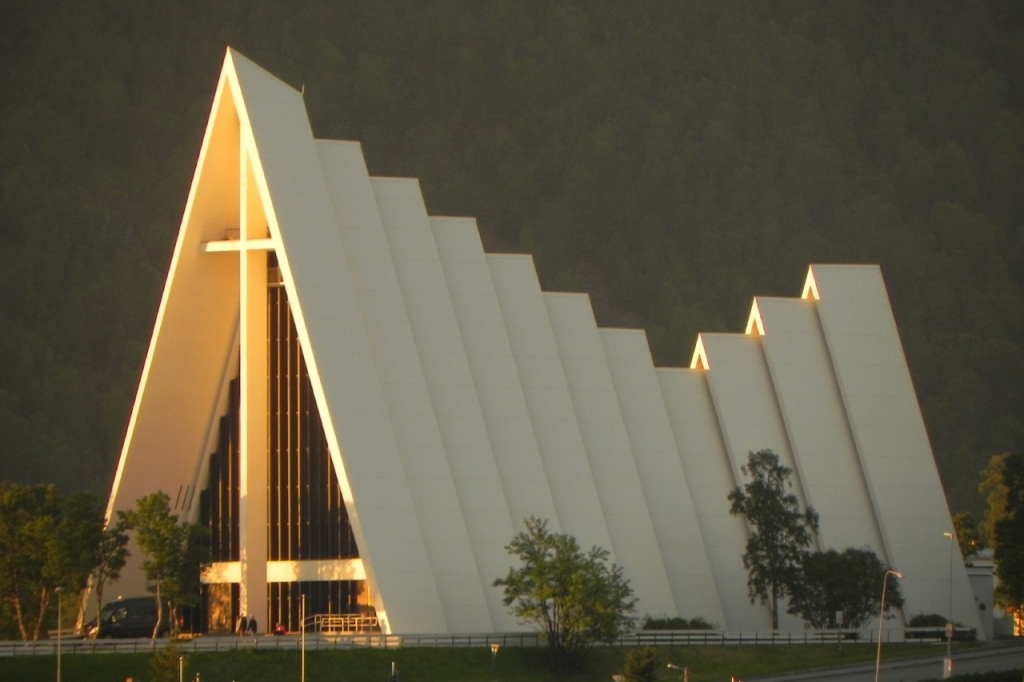 Arctic Cathedral Tromso. Photo by Claus Gundel, Hurtigruten
