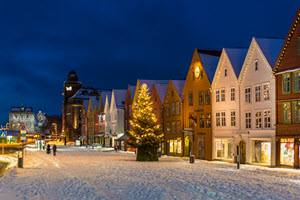 Christmas atmosphere in Bergen by Robin Strand, Visit Bergen