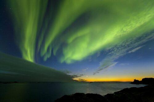 Northern Lights Arctic Coast. Photo By Oystein Lunde Ingvaldsen, Nordnorsk Reiseliv