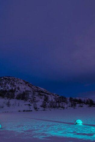 Arctic light in Kirkenes area Norway. Photo By Kirkenes Snow Hotel