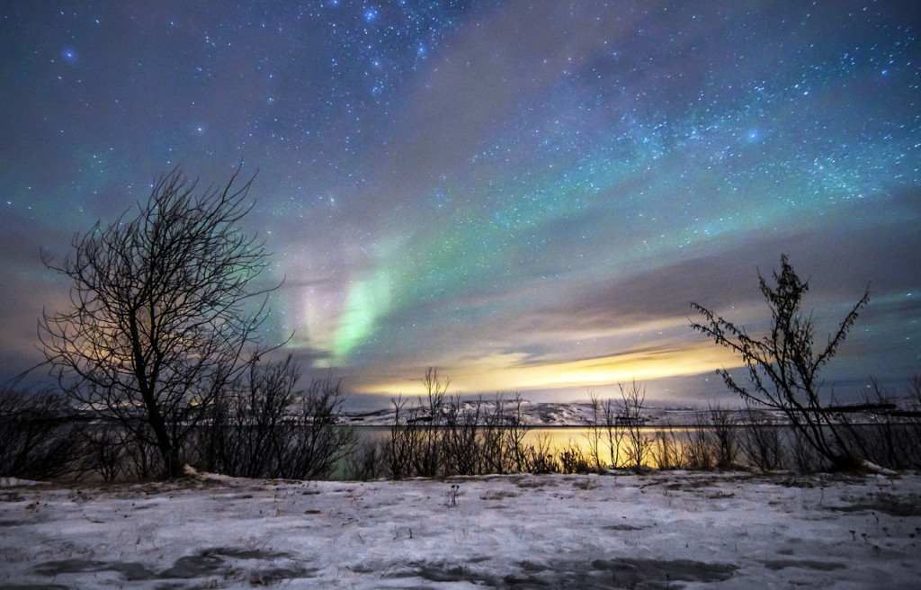 Kirkenes Arctic sky. Photo by Kirkenes Snow hotel