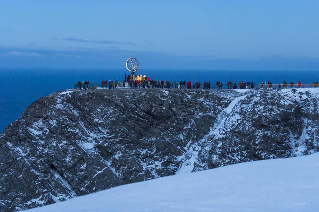 North Cape on a winter day by Orjan Bertelsen, Hurtigruten