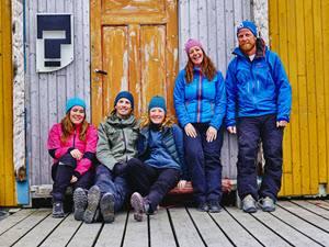Small group at Kogsfjord Guesthouse by Orjan Bertelsen, Hurtigruten