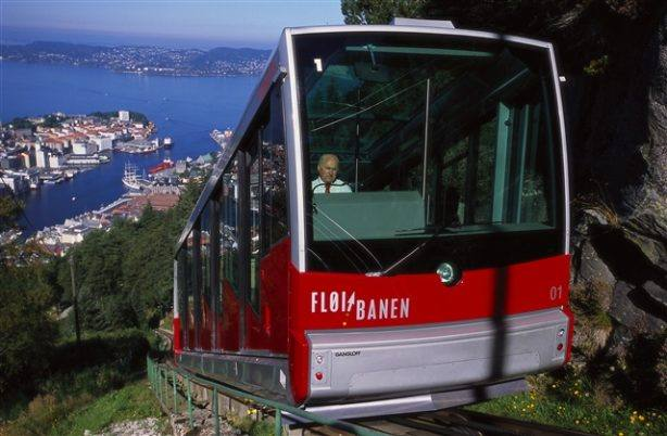 The Funicular in Bergen. Photo by Terje Rakke, Nordic Life/Innovation Norway