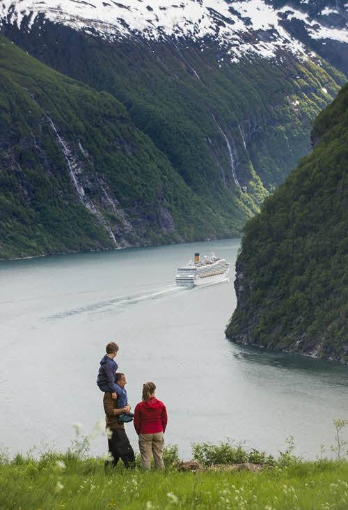 View of Geirangerfjord from Skaksfla by CH, Visit Norway