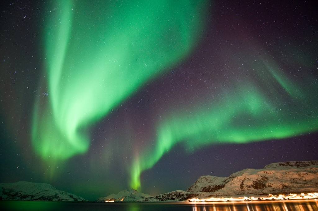 Northern Lights Tromso area. Photo by Gaute Bruvik, Nordnorsk Reiseliv