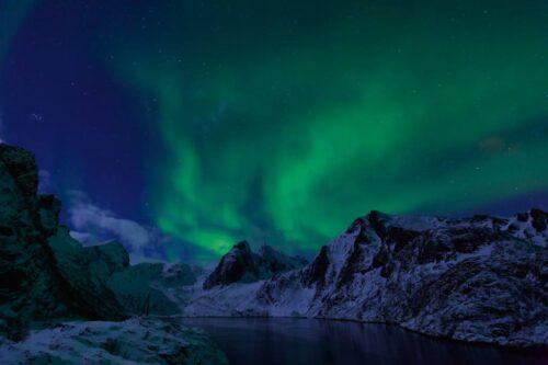 Northern Lights. Photo by Vidar Moloekken, Nordnorsk Reiseliv