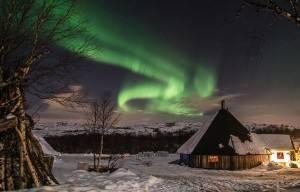 Northern Lights. Photo by Kirkenes Snow hotel
