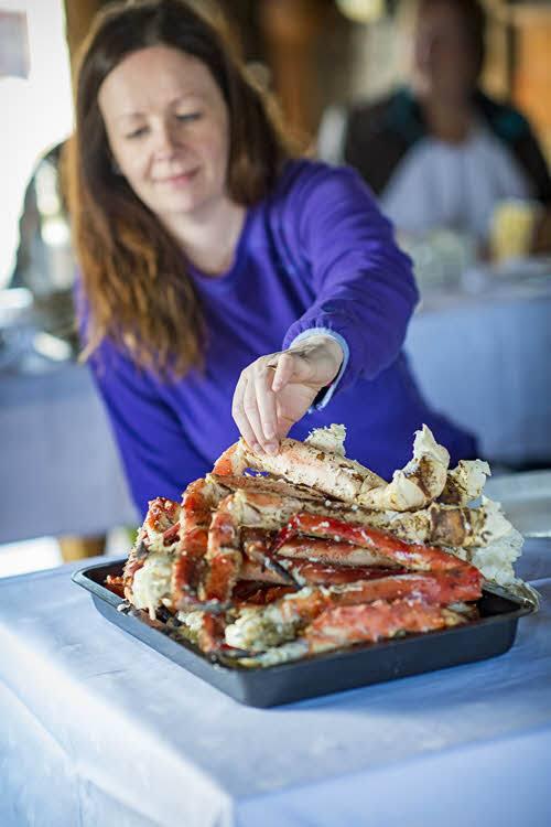 King Crab lunch by Orjan Bertelsen, Hurtigruten
