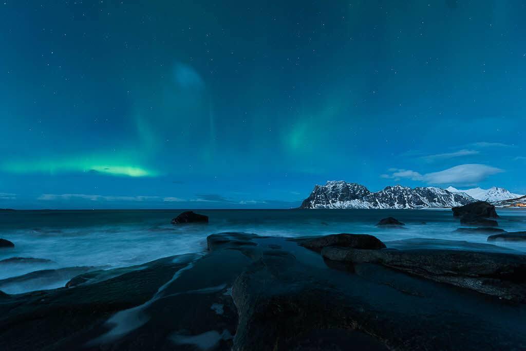 Northern Lights on the Arctic Coast by Stian Klo, Hurtigruten