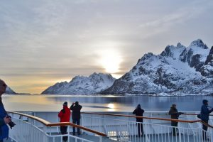 On deck by Claire Netting, Hurtigruten