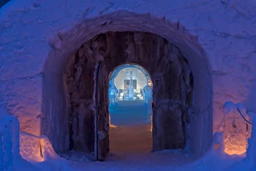 Entrance to Alta Igloo Hotel by Terje Rakke, Nordic Life, Visit Norway
