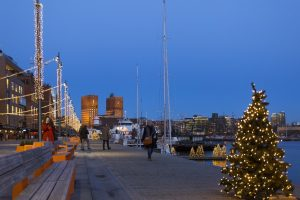 Christmas at Aker Brygge by VISITOSLO/Didrick Stenersen