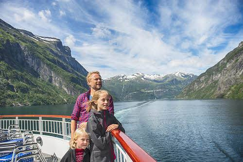 Enjoy a cruise on UNESCO Geirangerfjord by Agurtxane Concellon, Hurtigruten
