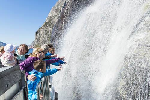 Get close to waterfalls by Rodne Fjordcruise