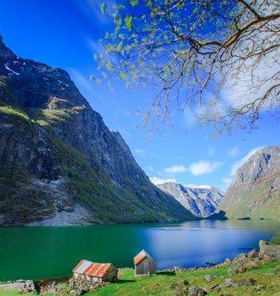 Naeroyfjord by Paul Emundson, Fjord Norway