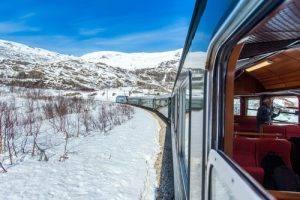 Flam Railway in winter by Paul Edmundson, Flåm AS