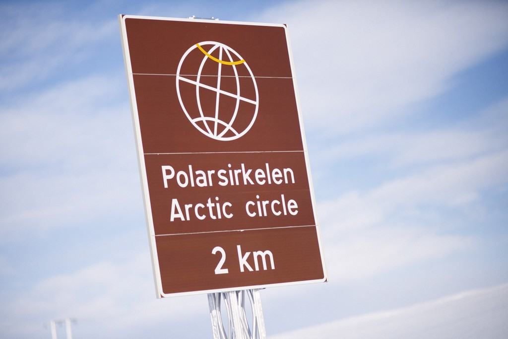 Arctic Nordland Line crossing Polar Circle by Oivind Haug, NSB