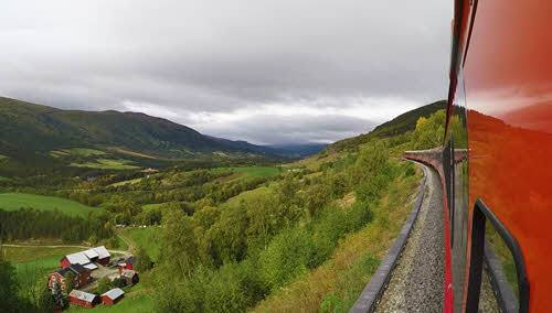 View from Dovre Railway by Tore Bjorback Amblie, NSB