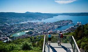 View of Bergen from Mt Floyen by Sverre Hjornevik, Fjord Norway